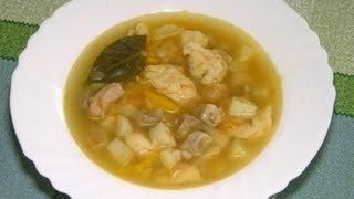 Суп с клёцками.(Кулинарный рецепт супа с клёцками. Как приготовить суп с клёцками? Ингредиенты: 500 г. говядины или свинины..., 2013-08-02T13:19:49.000Z)