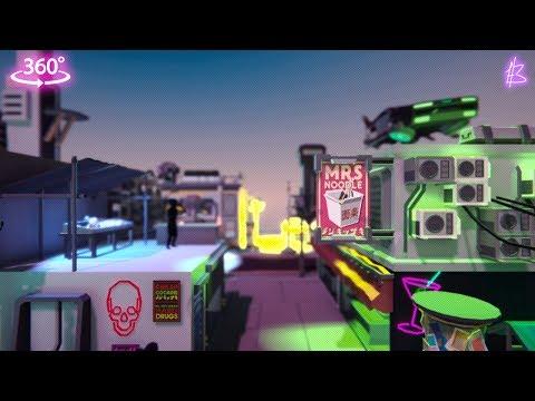 Sci-Fi City Environment 360 Video