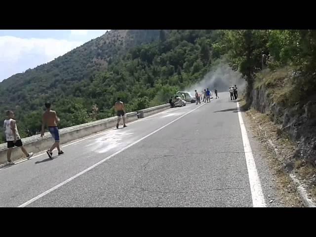 Crash Renault 5 turbo svolte di popoli 2015
