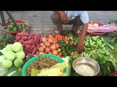Asian Market Street Food, Market Foods, Cambodia