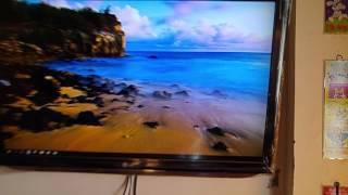 Conectar pc computador a tv televisor LG con HDMI y VGA cable azul con Windows 10
