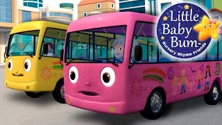 Wheels On The Bus | Part 8 | Nursery Rhymes | by LittleBabyBum!(Oops! The pink bus is a bit dirty already, it's time for a wash! See how the brushes clean it and it becomes shiny again! Download LBB videos ..., 2015-07-22T07:24:01.000Z)