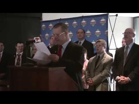 Advocacy Specialist John Anton at Disability Bill Signing at Fenway Park