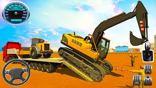 Heavy Excavator Machines Transporter Truck Games - Android GamePlay