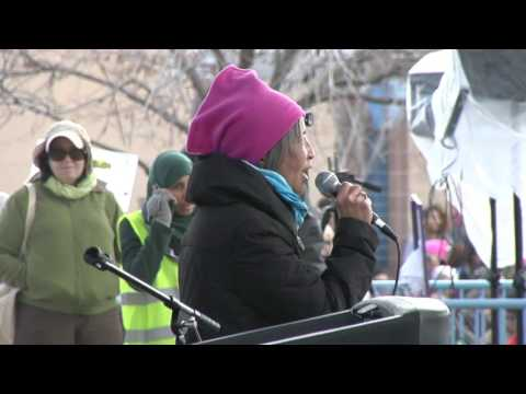 Eleanor Bravo (Food and Water Watch) @ ABQ Women's Rally 1-21-17