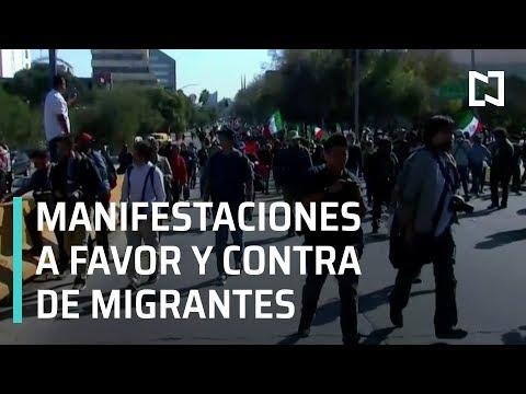 Manifestaciones a favor y en contra de Caravana Migrante de Honduras - En Punto con Denise Maerker