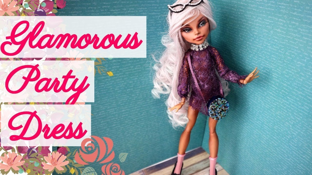 DIY Glamorous Lace Party Dress Dolls Monster High, Barbie How To ...