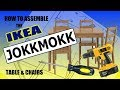 How To - Assemble IKEA JOKKMOKK FLATPACK Table & Chairs Dining Set