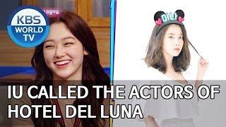 IU called the actors of Hotel Del Luna [Happy Together/2019.10.24]