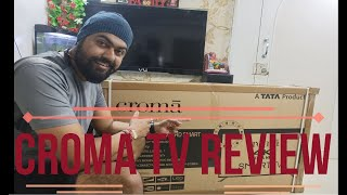 Review of Croma 4K LED SMART TV TATA Product Indian TV Heavy Discounts