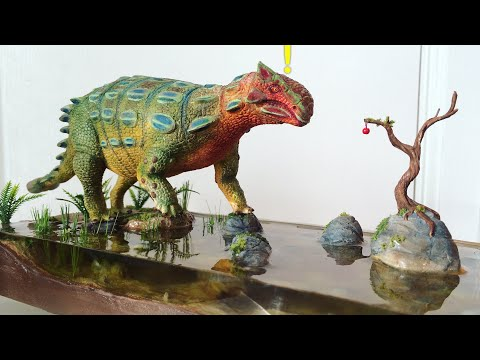 Ankylosaurus Diorama with Resin Water effect!