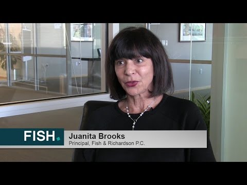 Trial And Appellate Lawyer, Juanita Brooks Shares Her Thoughts On Working For Fish & Richardson