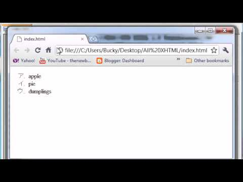 XHTML And CSS Tutorial - 27 - Styling Unordered Lists
