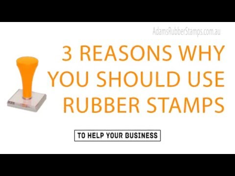 Adam's Rubber Stamps Melbourne - 3 Reason Why You Should Use Rubber Stamps