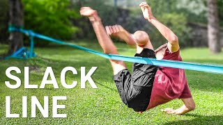 Learning how to Slackline