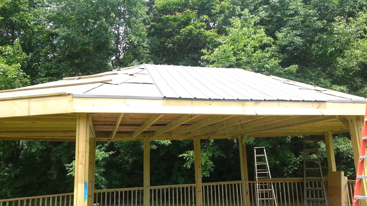 2013.07.01   How To Install A Steel Roof On Gazebo   YouTube