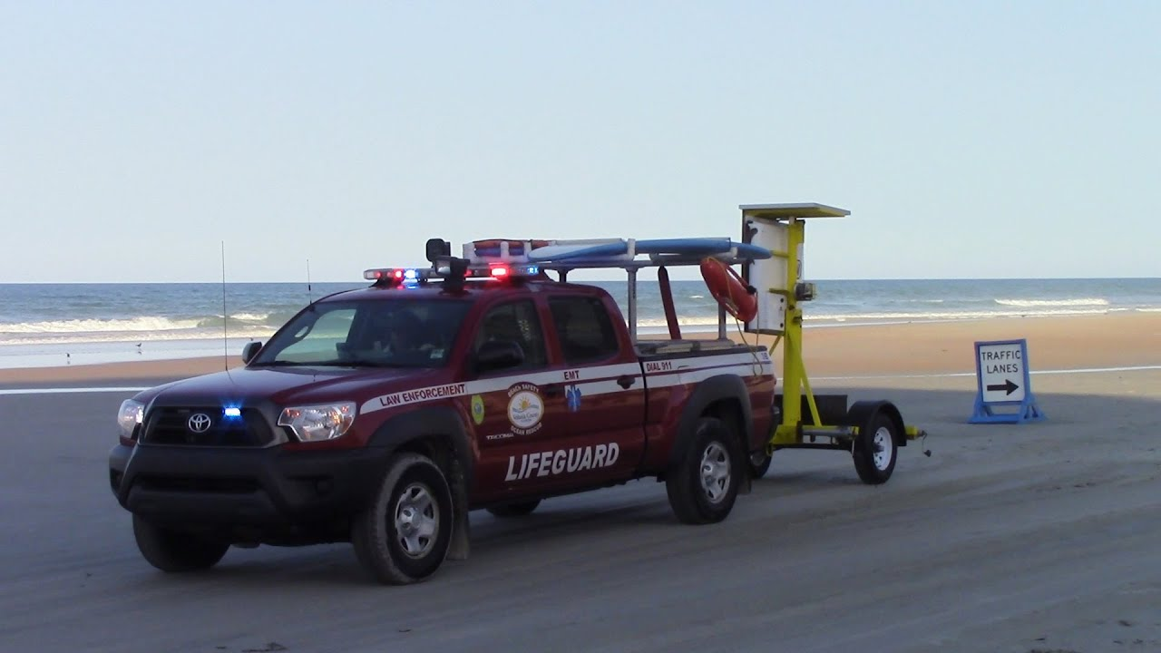 Daytona Beach Lifeguard Beach Patrol Unit 3B Responding 7 ...
