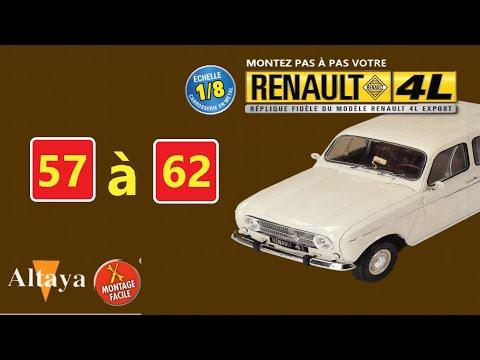 RENAULT 4L Export 1/8 N°57à62 d'Altaya comment la monter