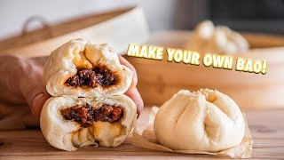 Easy Chinese BBQ Pork Steamed Buns (Bao)