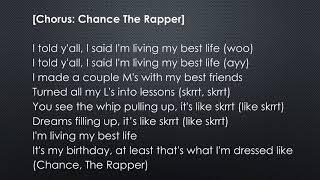 Cardi B   Best Life feat  Chance The Rapper Official Lyrics