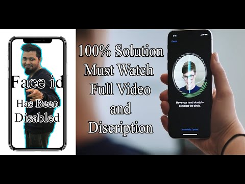 IPhone X , XR , XS Max Disabled Face ID Solution 100%