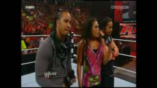 WWE RAW - Tamina and the Uso