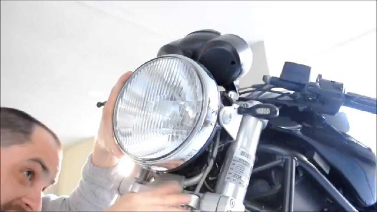 06 Ducati Monster 620 Upgrade The Headlight Bulb Youtube