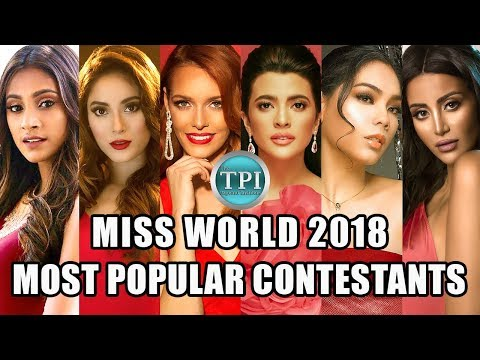 Most Popular Miss World 2018 Contestants