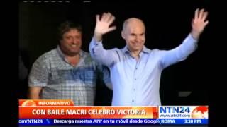 Vea cómo candidato argentino celebra triunfo de su partido en elecciones primarias de Buenos Aires