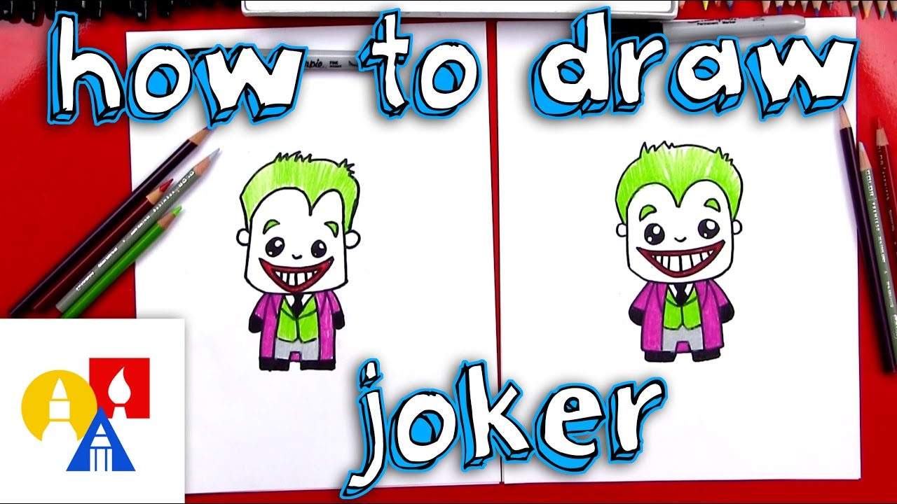 How To Draw Cartoon Joker Youtube Can Spider Bus Hub Premium