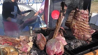 Massive Asado from Argentina Seen in Sanremo, Italy. World Street Food