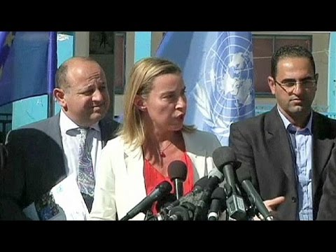 A Palestinian state or endless conflict, warns Federica Mogherini in Gaza