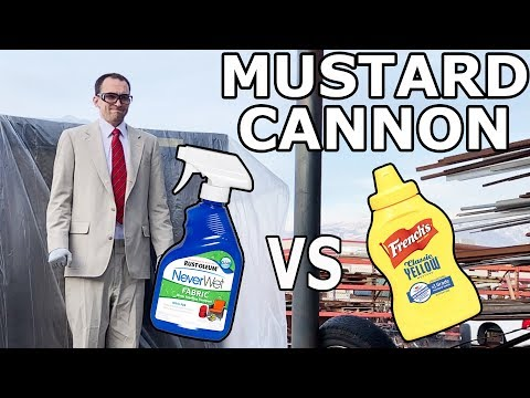 Mustard Cannon vs. NeverWet Treated Suit - 300 MPH Mustard and ketchup