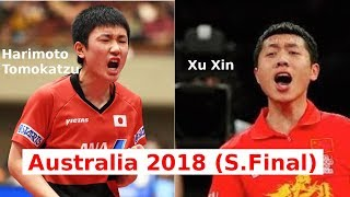 Harimoto Tomokazu vs Xu Xin - Australia 2018 - S.Final