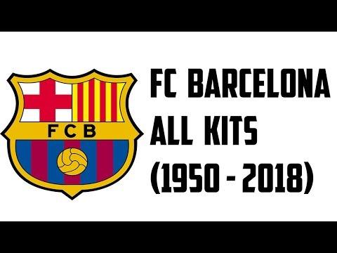 babe78ac6 FC Barcelona All Kits (1950 - 2018) - YouTube