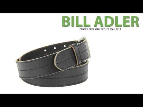 Bill Adler Center Stitch Leather Belt (For Men)