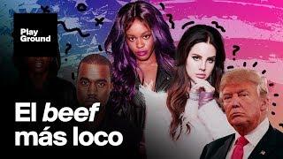 Pelea entre Kanye West, Lana del Rey y Azealia Banks.