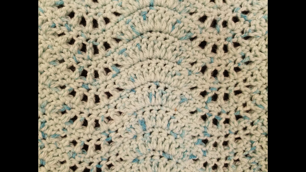 The Feather And Fan Crochet Stitch Tutorial Youtube