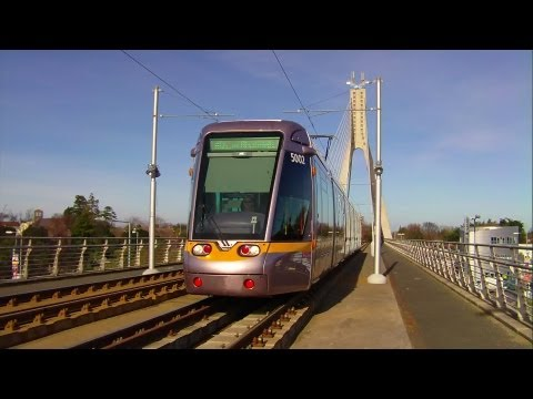 LUAS Tram Crossing Taney Bridge, Dublin