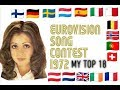 Eurovision 1972 - My Top 18