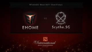 ehome vs scythe sg winner semifinal english commentary dota 2 international