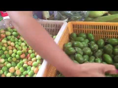 market street fruits in Cambodia