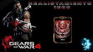 """Gears of War 4 l Realistamiento 1500 l ¿Que dan ? l Oscar Acero Negro """" skin Hoja de Maple """" l 1080p"""