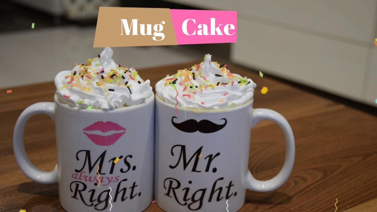 Eggless Mug Cakes | 2 Minute Microwave Mug Cakes | How to ...
