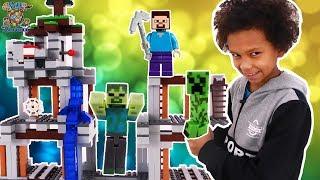 МАЛЬЧИШКИ собирают LEGO MINECRAFT! ДАНИ и третий пакет!