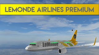 Roblox Lemonde Airlines Flight A319 NEO Premium Economy