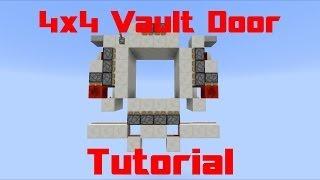 [Minecraft] - 4x4 Vault Door - Tutorial