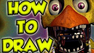 [Parody] How To Draw Withered Chica Like a Professional | Five Nights at Freddy