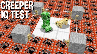 Фото CAN The CREEPER Passed  Q TEST In Minecraft