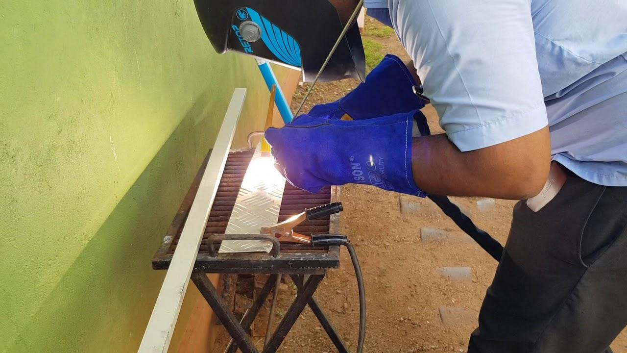 Aluminium Welding Using Retop Wse 200 Tig Machine In Sri Lanka Youtube